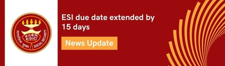 ESI contribution: Due date extended by 15 days [March 2020 update]