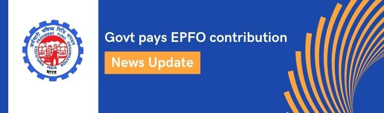 Government pays EPFO contribution